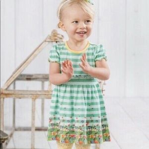 Matilda Jane Green Stripe Dress & leggings